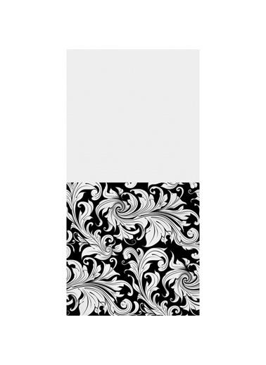Artikel Siyah-Beyaz Yaprak Desenli Dekoratif Çift Taraflı Yastık Kırlent Kılıfı 45x45 cm Renkli